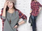 供应韩版女装女式T恤 2012秋季T恤 时尚女装 品牌折扣D9-