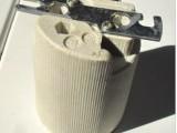 灯饰灯具配件 E40条纹陶瓷灯头灯座 户外灯灯头 埋地灯螺口灯头