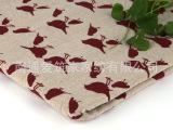 厂家批发供应各种Zakka亚麻布印花麻布坯布工艺品专用布可混批
