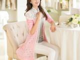 2014新款韩版镂空蕾丝中长款披肩开衫针织衫防晒薄空调衫
