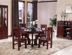 山东木言木语药木圆桌阳台休闲桌实木圆桌