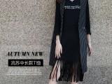 春秋新款大码女装韩版中长款T恤女长袖修身打底衫纯棉连衣裙子