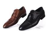 品牌男鞋 时尚尖头 头层牛皮 商务英伦品质真皮男式皮鞋