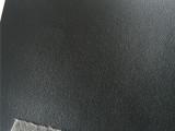 黑色PVC皮革 纸纹细纹PVC皮料 箱包