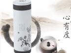 正品304不锈钢杯子 层真空骨瓷内胆陶瓷保温杯 男女水杯商务水杯