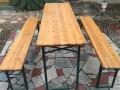 啤酒节专用 实木啤酒桌椅出租 长条桌长条凳租赁