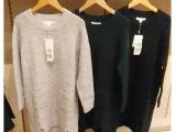现货  2015秋装新款韩版女毛衣装针织衫连衣裙纯色三色7000