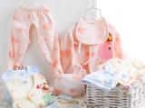 憨豆龙新生儿礼盒装春秋初生婴儿衣服套装纯棉宝宝礼盒用品五件套