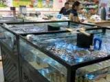 超市鱼缸订制,海鲜池定做水产生鲜池定制观赏鱼缸定