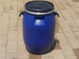 山东新佳塑业60升抱箍桶60公斤塑料桶60l法兰桶
