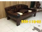 老船木沙发椅组合实木沙发三人沙发办公沙发茶几组合定制