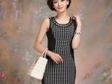 2014春装新款韩版女装百搭中长款包臂无袖打底衫修身吊带衫背心裙