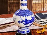 厂家批发 瓷手工薄胎赏瓶插花青花瓷花瓶 特色装饰摆件