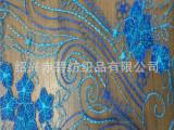 新品全尼龙多色网格纱/网眼布 电脑绣花面料刺绣蕾丝花边 外销