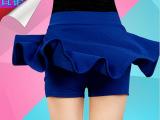2015新款韩版短裙 春夏蓬蓬裙防走光高腰半身裙春秋百褶太阳裙