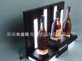 LED发光灯亚克力洋酒展示架 深圳厂家展示台定制