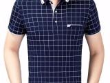 中年短袖T恤男夏装40-50岁中老年人爸爸半袖男polo衫