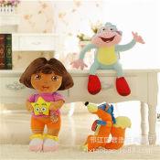 正版爱探险的抱星 朵拉 毛绒儿童早教玩具 女生礼物娃娃公仔