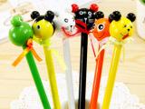 【商城新款】韩国文具可爱小动物头蝴蝶结造型木制卡通铅笔 15克