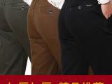 加绒加厚直筒休闲男裤 秋冬加绒加厚男裤 中老年加厚加绒男裤