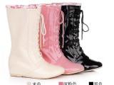 16大码女靴内增高中筒雨靴雨鞋外贸速卖通