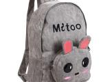可爱双肩包小清新创意韩版潮日韩风范卡通书包兔子女学生帆布背包