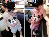 「孩梦」2015新款卡通短袖套装 宝宝时尚韩版童装 儿童夏装两件