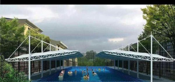 专业制作泳池膜结构 张拉膜结构 景观张拉膜结构