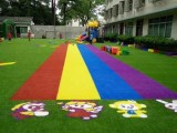 幼儿园草坪的使用