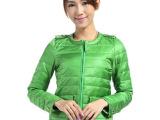 厂家直销新品 冬季女装短款羽绒服 淑女经典糖果色修身羽绒外套