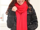 2014新款秋冬围巾加长加厚红色喜庆围巾公司年会庆典婚礼节日送礼