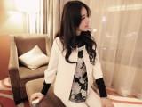 2014春夏装新款韩版宽松短女孩装七分袖圆领开衫西装小外套 批发