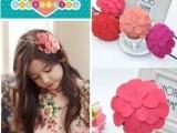 韩版 儿童头饰 发箍 女童精美大款花朵朵头箍 发卡 亲子发饰