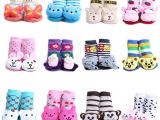 批发儿童毛圈袜 卡通冬季宝宝袜 动物头立体袜 防滑地板袜w02