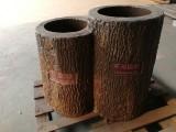 水泥仿木垃圾桶(上海地山秀美景观工程有限公司)