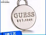 广东东莞箱包金属配件厂家专业定制高档锌合金标牌