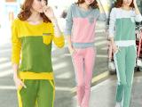 2014秋季新款运动服韩版卫衣套装个性修身长袖运动套装女