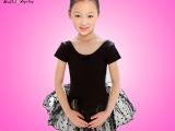 2522#儿童莱卡棉长袖连体纱裙 芭蕾纱裙 体操服 演出服 练功