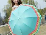 新款防紫外线折叠遮阳伞黑胶太阳伞超强防晒晴雨彩虹蛋糕伞女