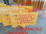厂家供应玻璃钢标志牌 输油 燃气 电力警示牌厂家