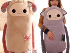 HWD可爱小精灵猴子/猫咪 长臂娃娃毛绒玩具公仔靠垫 1米大抱枕