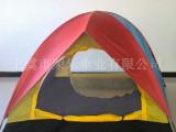 (荣乐厂家直销)休闲旅游帐篷   手动双层3-4人户外野营露营帐
