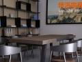 厂家销售美式实木酒吧咖啡厅桌椅 户外奶茶店洽谈桌椅 休闲桌椅