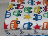 纯棉针织双面花布头卡通童装宝宝布料棉毛面料专用布组DIY手工布