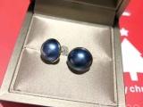 18K金天然日本马贝珍珠耳环套装
