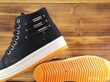 韩版春季新款高帮鞋厚底内增高帆布松糕鞋女