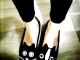 2013欧美爆款猫狗单鞋时尚杂志款街拍女鞋绒面休闲平底鞋批发厂家