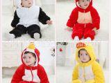 秋冬加厚长袖造型婴儿连体身棉熊猫哈衣爬服宝宝连身衣爬衣服童装