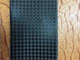 亚信皮革彩色编织纹PU0.6TC布底草席纹手袋皮套革长期现货供应