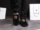 温州男鞋  男士休闲鞋一脚蹬套脚男鞋 驾车鞋英伦男鞋一件代发
